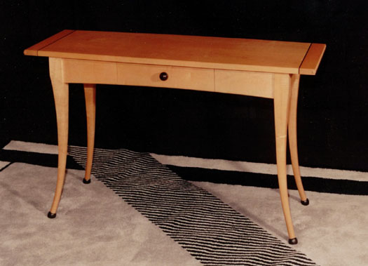 Gretchen's sofa table of maple and ebony